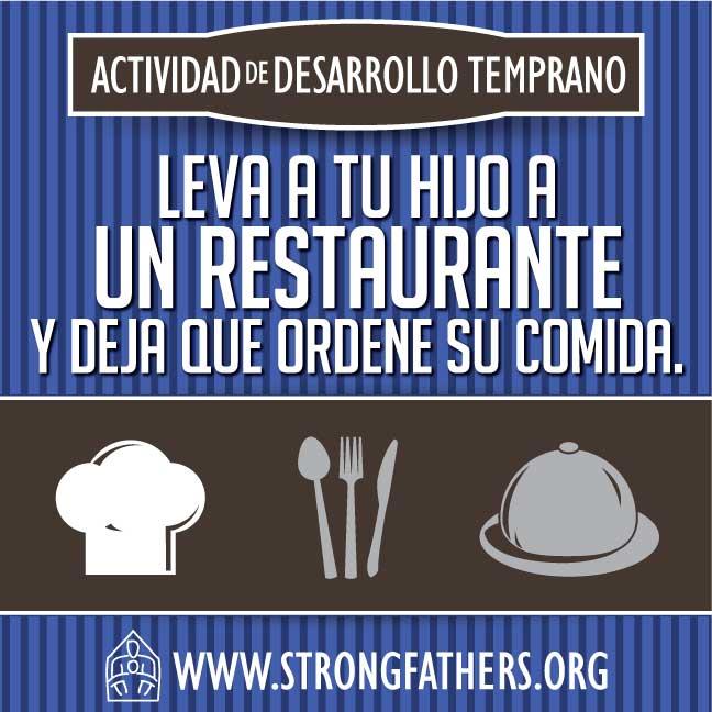 Leva a tu hijo a un restaurante