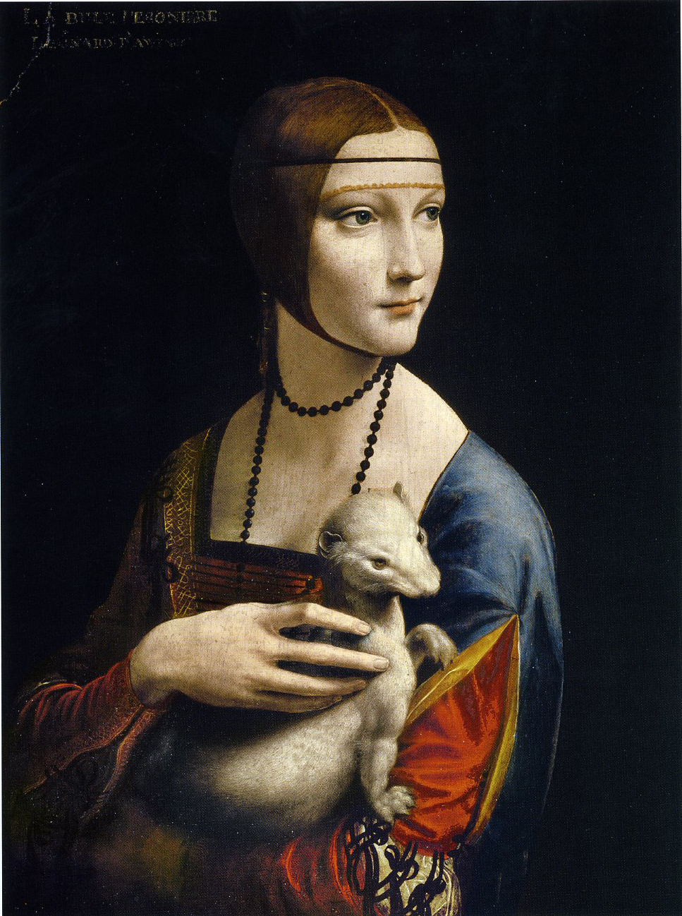 "No biggie, just chillin' with my ermine.  Cecelia Gallerani as ""The Lady with an Ermine,"" Leonardo da Vinci, c. 1489"
