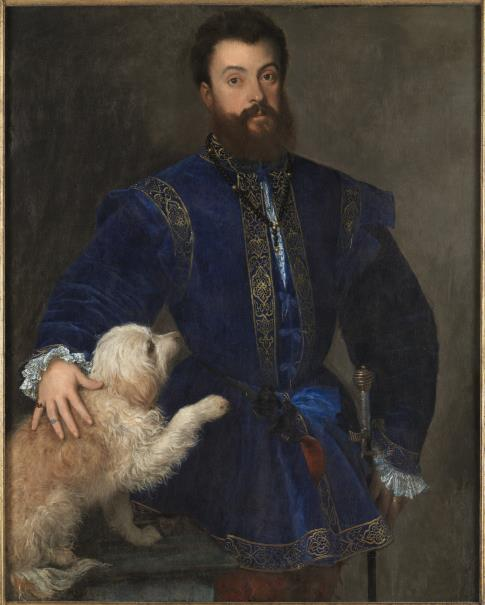 See, ladies, I'm good with dogs!  Federico Gonzaga, by Titian, c. 1529