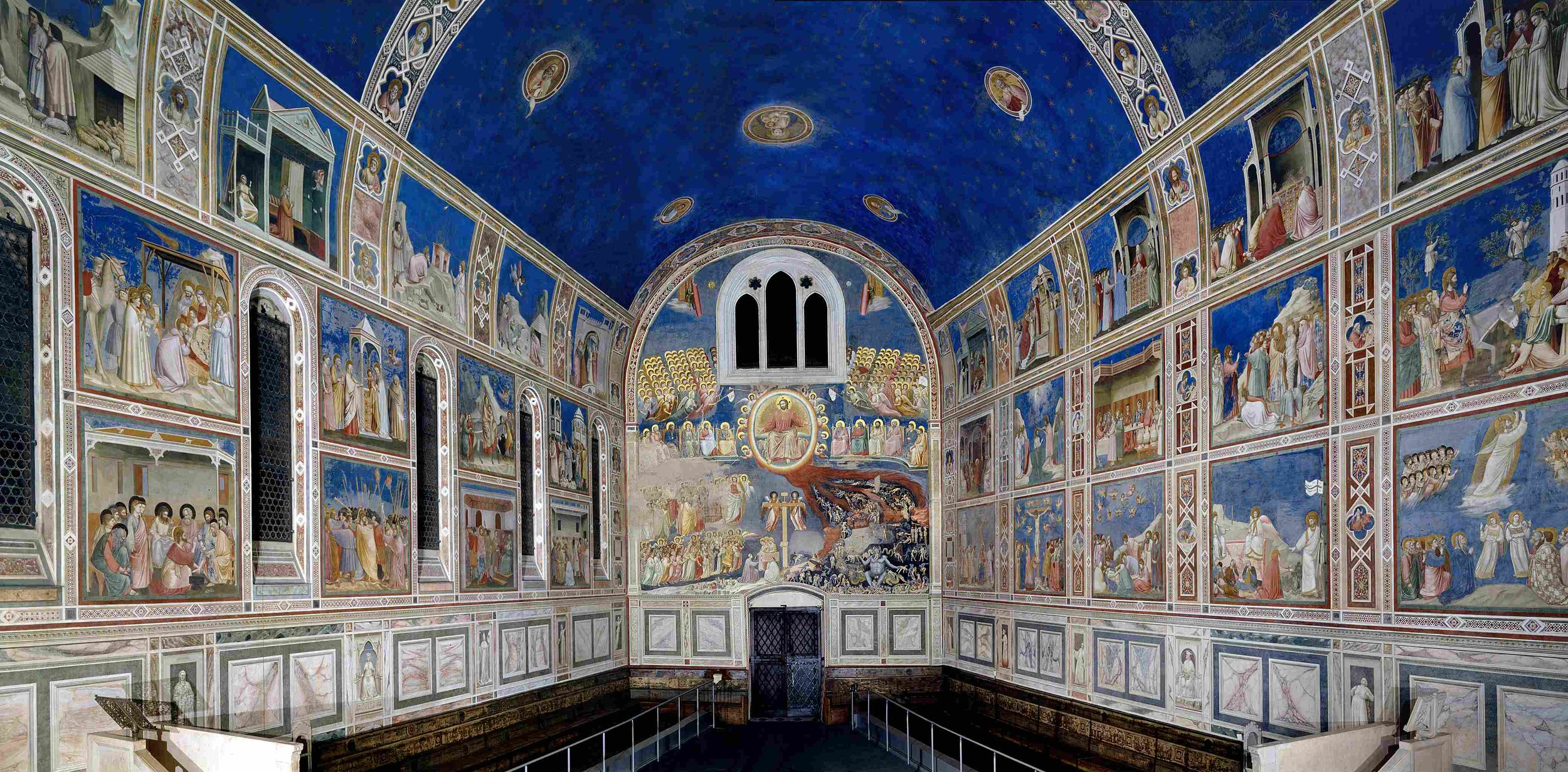 The interior of the  Scrovegni Chapel , painted by Giotto in the 14th century, inspired Galileo. Paolo also briefly plots to sneak into the chapel, certain the interior is filled with riches.