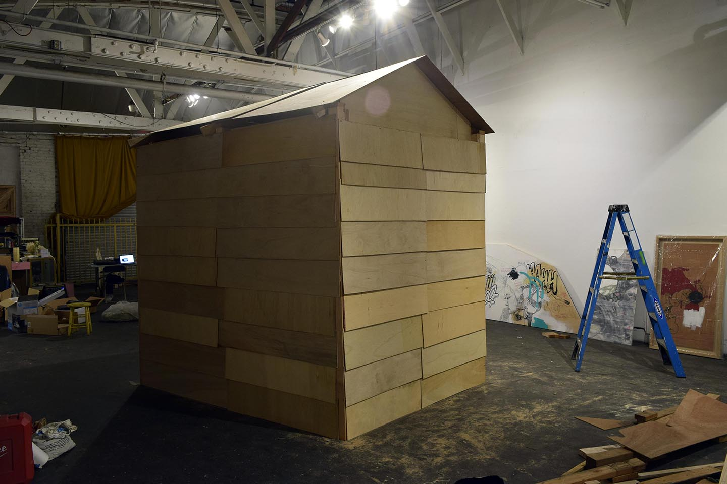 We Built a damn house in the gallery that we then turned into a damn temple damnit. Success.