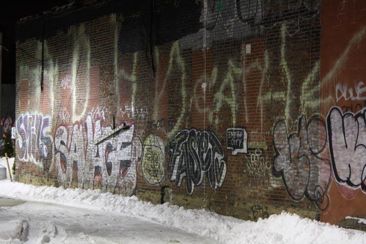 Random Graffiti shot off Metropolitan ave near the BQE circa 2010