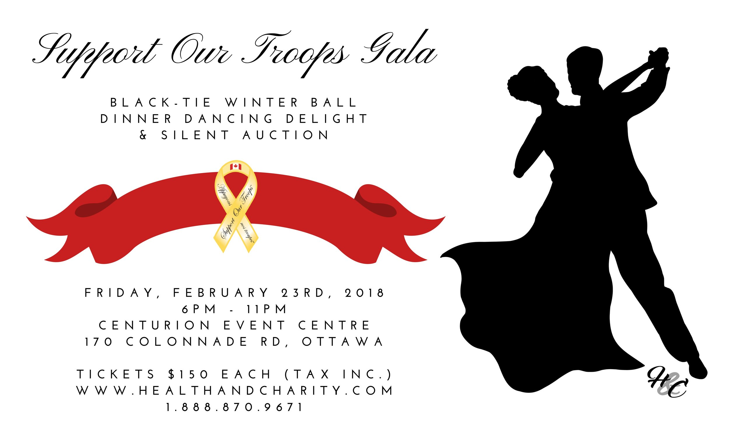 Support Our Troops Gala 2018   On Friday, February 23rd, 2018 we danced the night away to support our troops. Provided an amazing 3-course meal, excellent silent auction and fantastic entertainment. We would like to thank everyone who attended and a special thank you to our supporting sponsors.