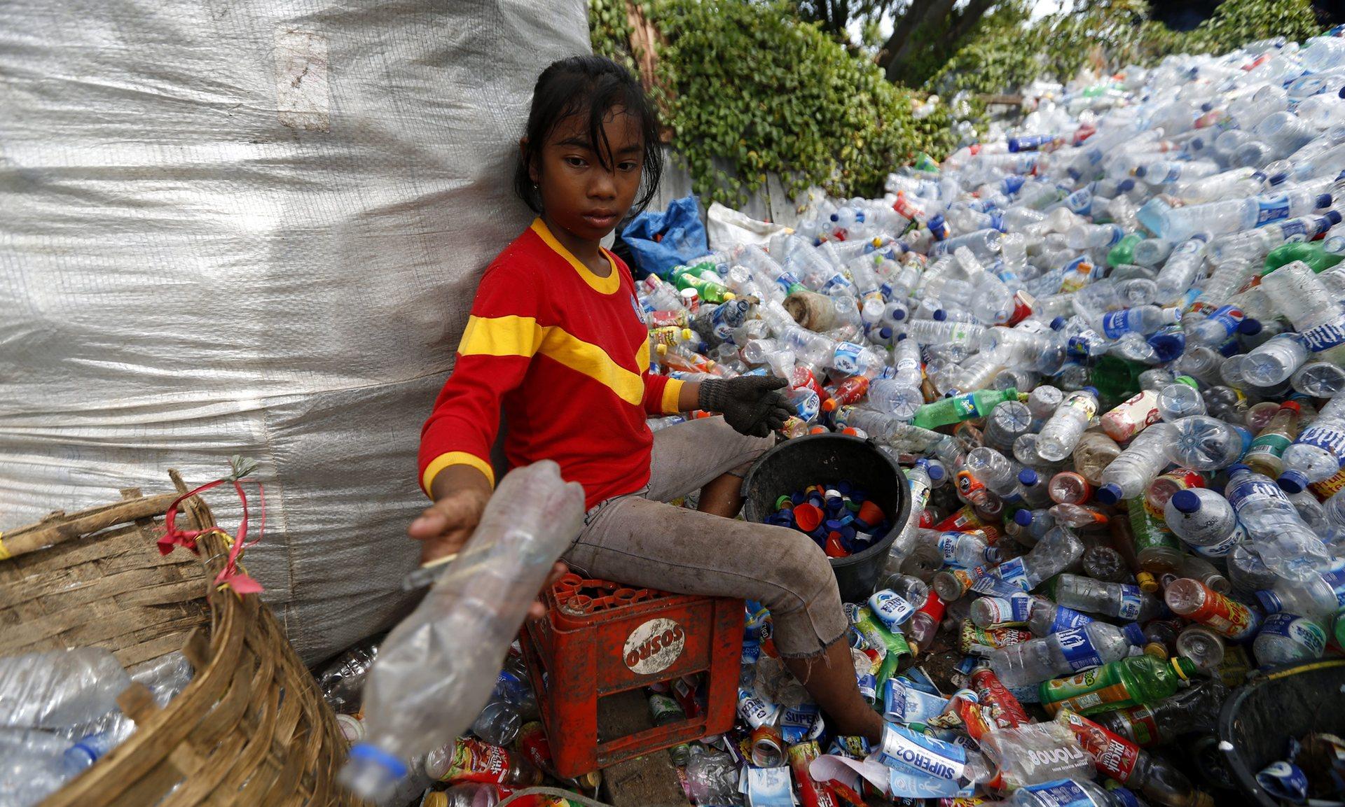 Indonesian plastic-waste plant.