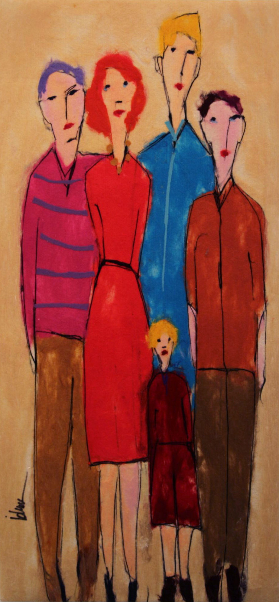 "JOHANAN HERSON   The Family Original Acrylic Fiber | Soft Art 363"" H x 30"" W"