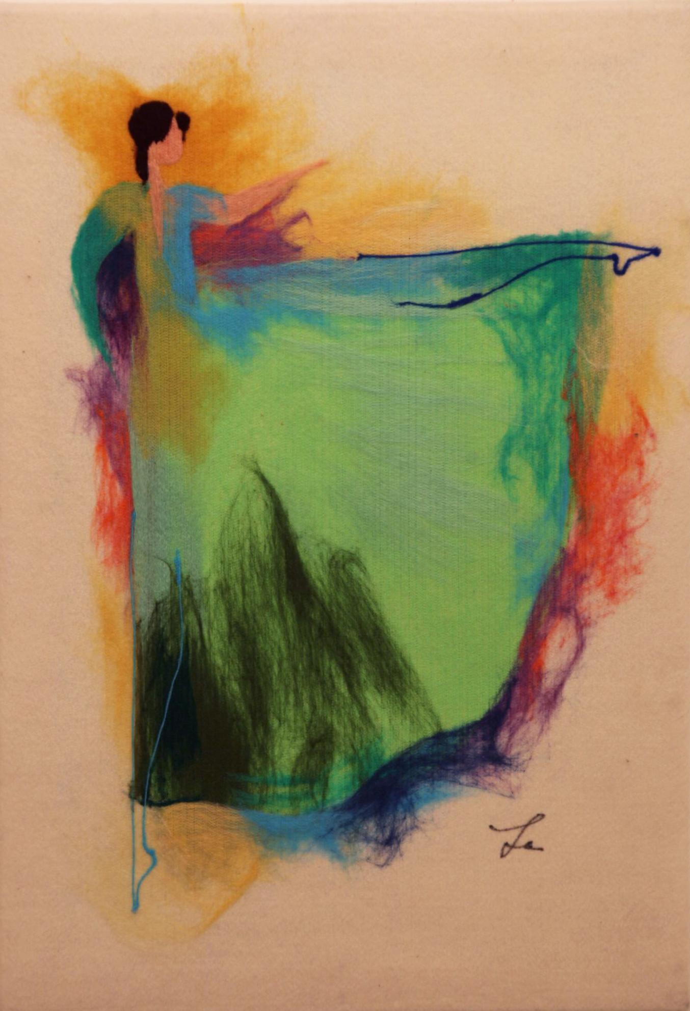 "ELENA YAMPOLSKY   The Ballerina Original Acrylic Fiber | Soft Art 34"" H x 23"" W"