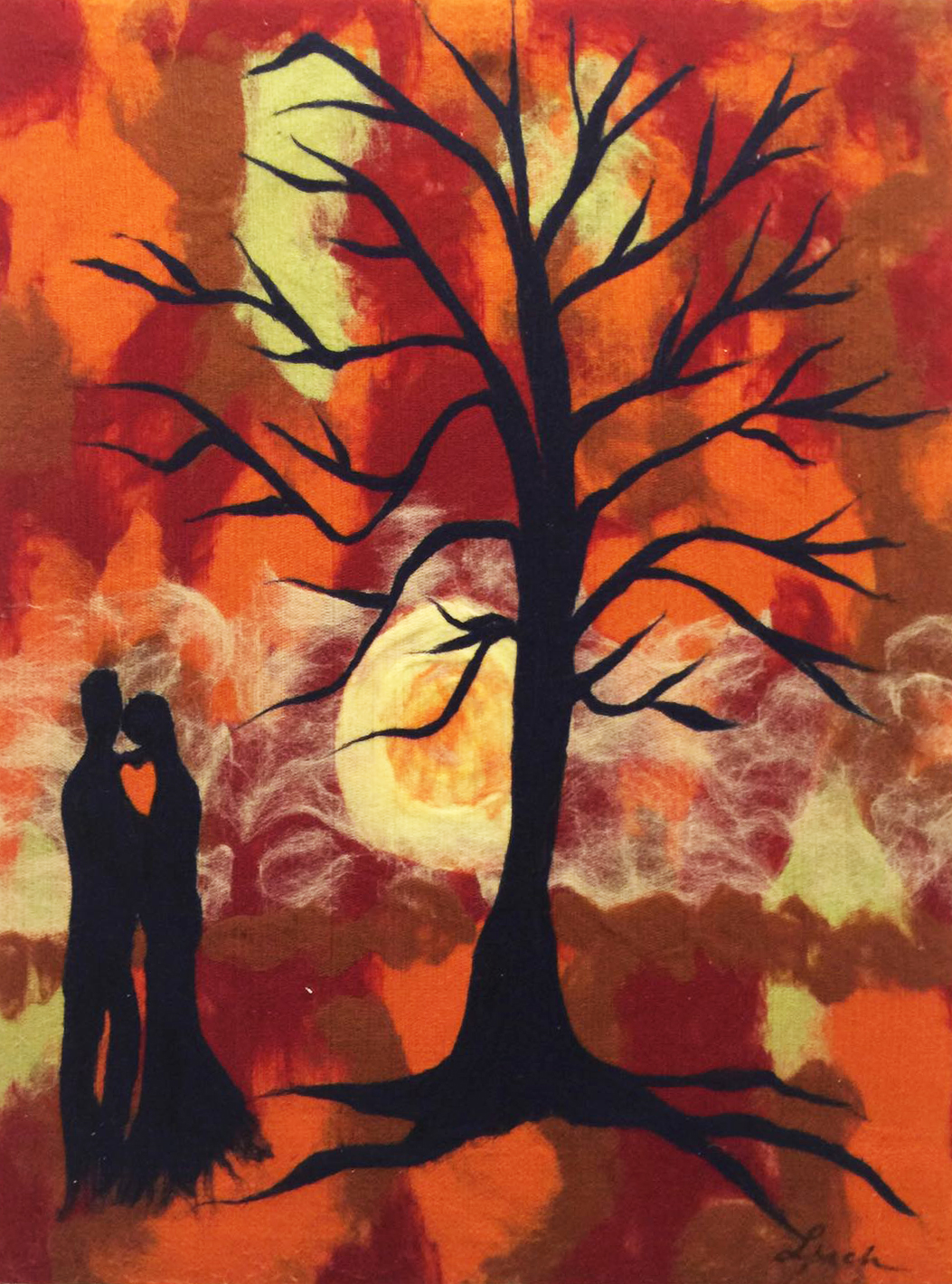 "ELENA YAMPOLSKY   Garden Of Eden Original Acrylic Fiber | Soft Art 36"" H x 27"" W"