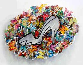 """DAVID GERSTEIN  Cinderella Original Metal Sculpture / Limited Edition 39"""" H x 29"""" W"""