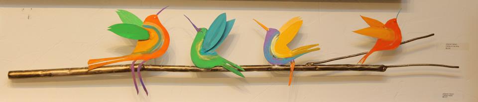 JOHANAN HERSON  4 Birds On A Wire Sculpture