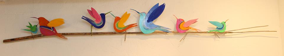 JOHANAN HERSON  6 Birds On A Wire Sculpture