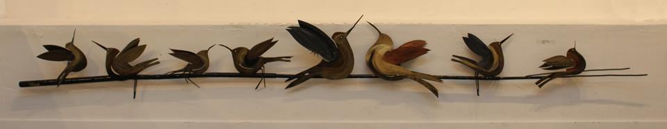 JOHANAN HERSON  8 Birds On A Wire Sculpture