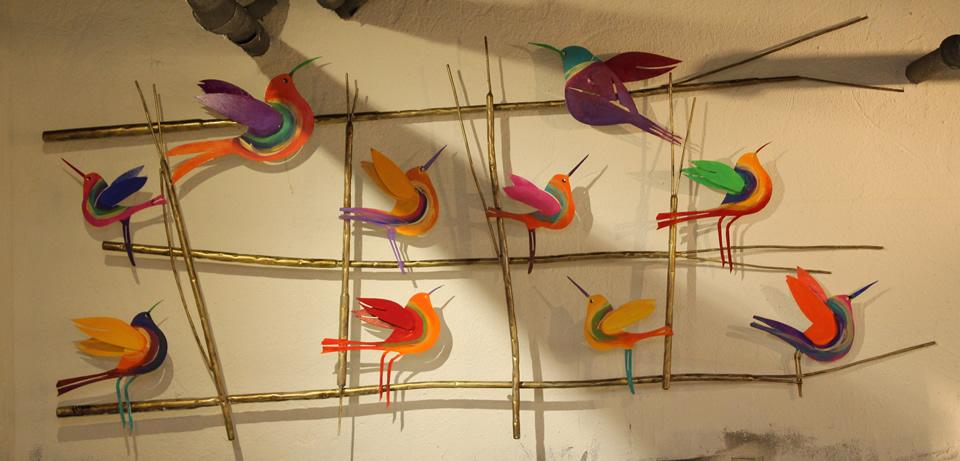 JOHANAN HERSON  10 Birds On A Wire Sculpture