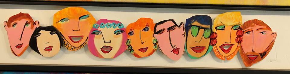 JOHANAN HERSON  Faces Color Sculpture