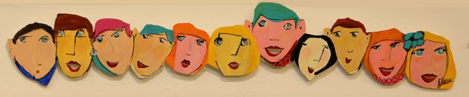 JOHANAN HERSON  Small Faces Color Sculpture