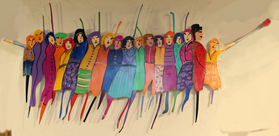 JOHANAN HERSON  People Color Sculpture