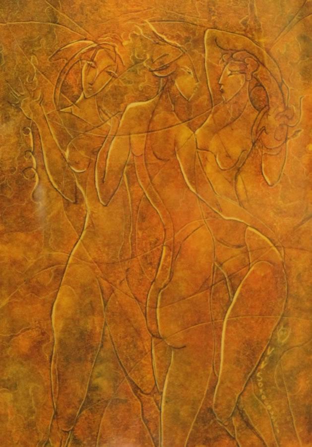 "VALERI SOKOLOVSKI  The Tango Series II Original Oil 15.5""W X 19""H"