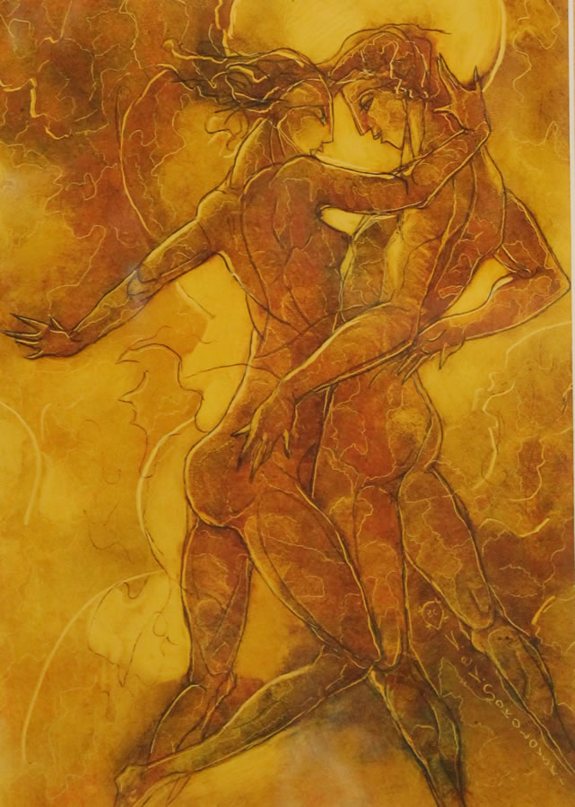 "VALERI SOKOLOVSKI  The Tango Series IV Original Oil 15.5""W X 19""H"