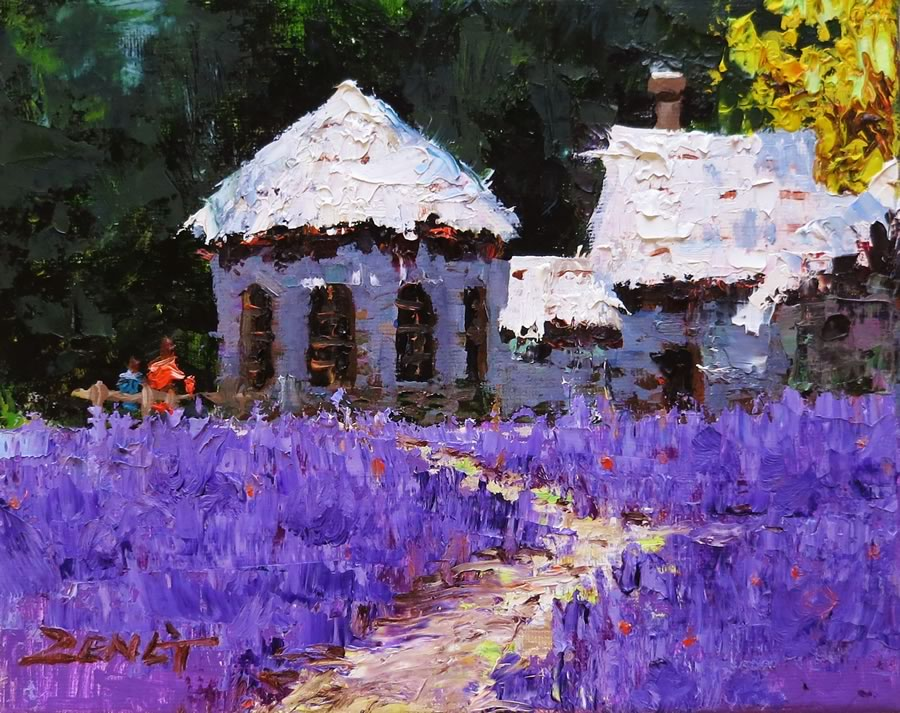 UNCLE ZENG  Lavender Original Oil 8 X 10