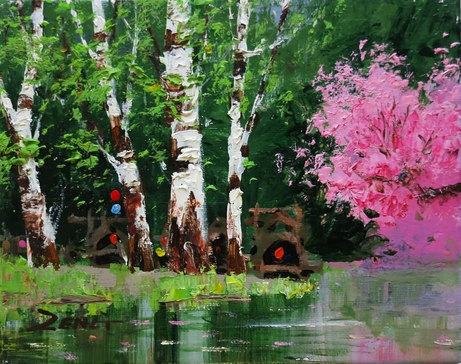 UNCLE ZENG  Spring Water Original Oil 8 X 10