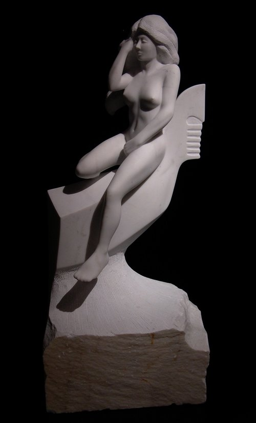The+Gondolier's+Mistress3.+Original+Sculpture.+Carrara+Administrazione+Marble.+36X20X20.jpeg