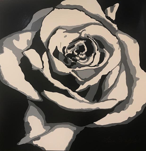 "LISA WOLFIN  Peacefulness Original Acrylic 36"" X 36"""