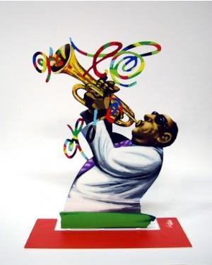 DAVID GERSTEIN Jazz Club Trumpeter  Original Metal Sculpture | Open Edition