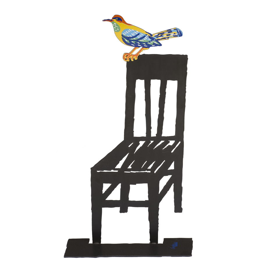DAVID GERSTEIN Empty Chair  Original Metal Sculpture | Open Edition