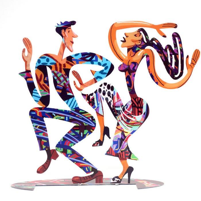 DAVID GERSTEIN Dancers New  Original Metal Sculpture | Open Edition