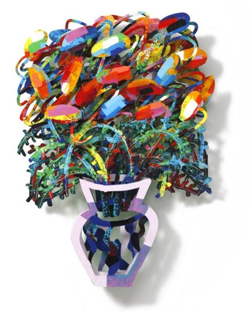 DAVID GERSTEIN   Bouquet New York  Original Metal Sculpture   Limited Edition