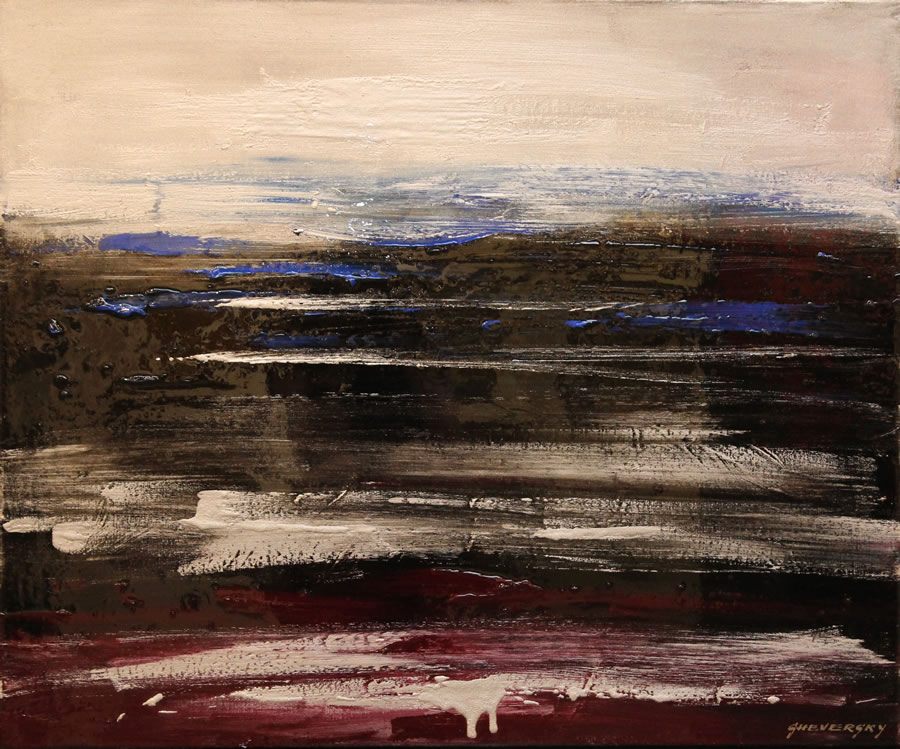 ALEXANDER SHEVERSKY The Ocean Original Oil and resin 36 X 30