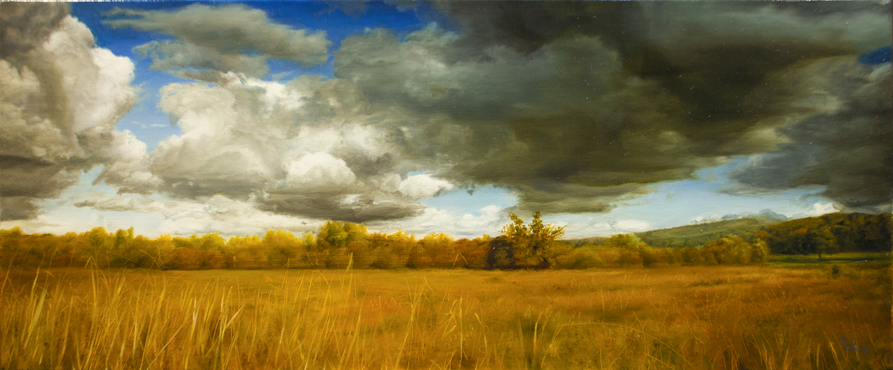 DAVID SHEPHERD  Whisper Original Oil 12.5 X 26