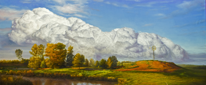 DAVID SHEPHERD  A Taste of Fluff Original Oil 18 X 46