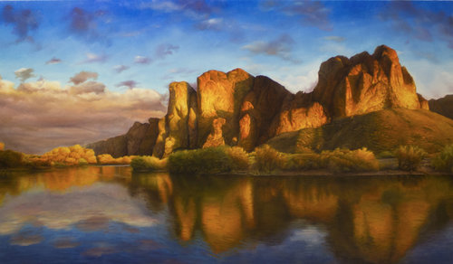 DAVID SHEPHERD  Rising Original Oil 28 X 50