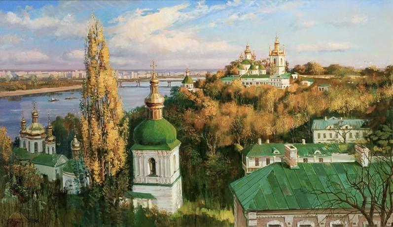 OLEG TURCHIN  PECHERSK LAVRA Original Oil 51 X 31
