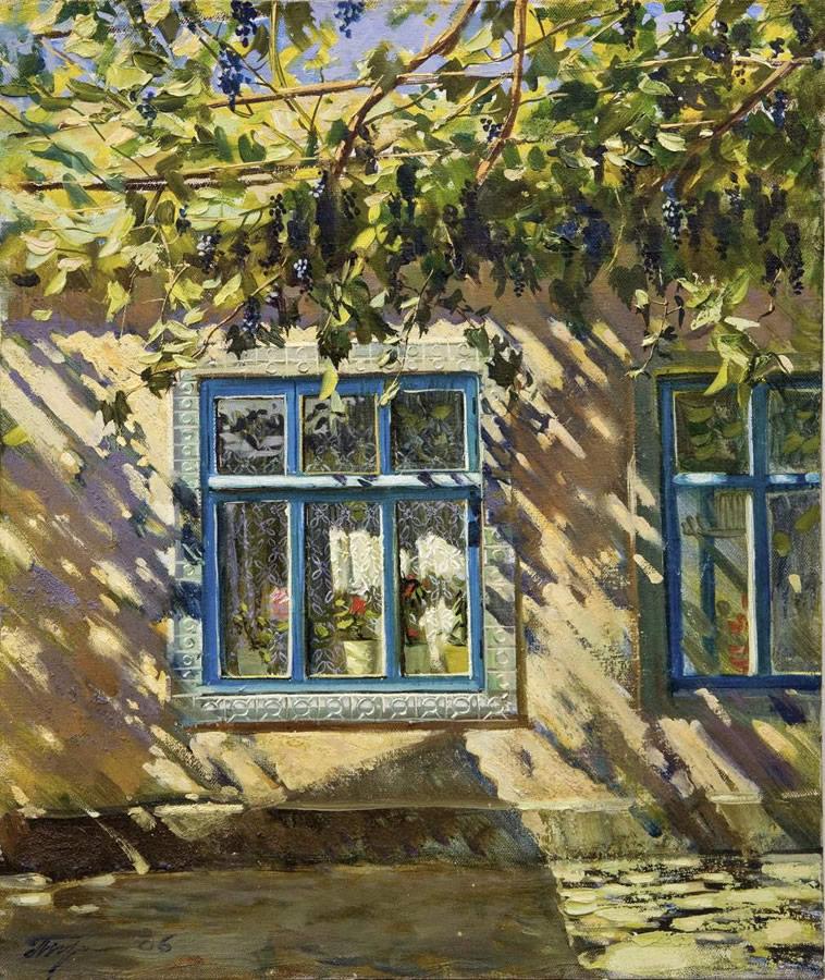 OLEG TURCHIN  The Window Original Oil 20 X 17