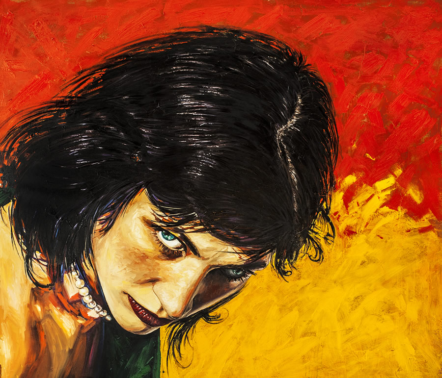ALEXANDER SHEVERSKY Look at Me Original Oil 48 X 40