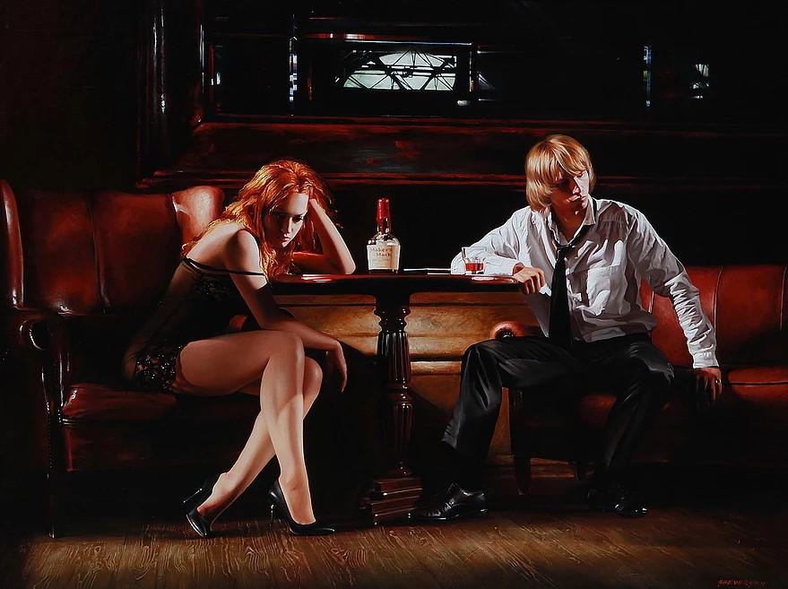 ALEXANDER SHEVERSKY  Straight Talk Original Oil 36 X 48