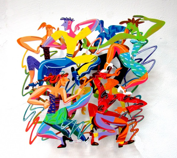 DAVID GERSTEIN  DIsco Trance Limited Edition Wall Sculpture 18 X 20