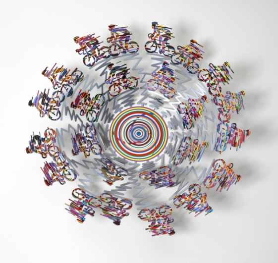 DAVID GERSTEIN  Bowl - Cycle Big Sculpture 19 Inches
