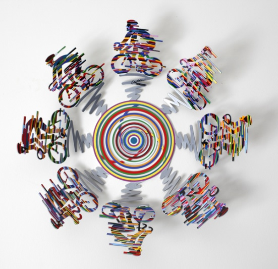 DAVID GERSTEIN  Bowl - Cycle Small Sculpture 14 Inches