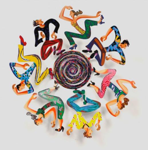 DAVID GERSTEIN  Bowl - Disco Sculpture 18 Inches