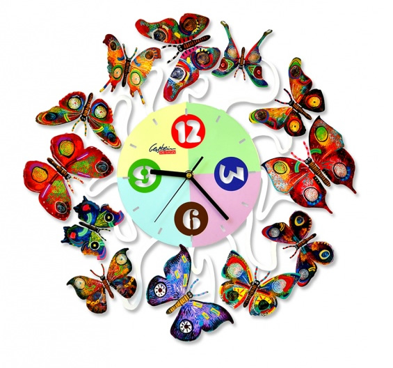 DAVID GERSTEIN  Clock Spring Time Wall Sculpture 20 Inches
