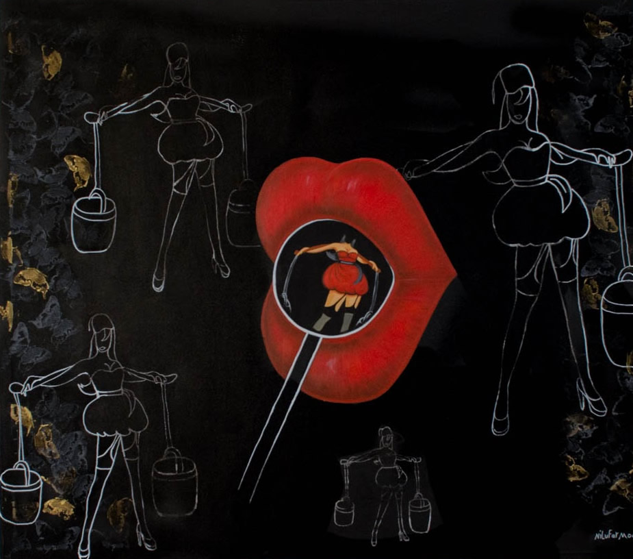NILUFAR MOAYERI  Lollipop Original Oil 54 x 48