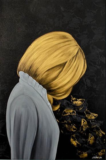 NILUFAR MOAYERI  Mindfulness Original Oil 36 X 24