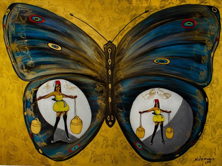 NILUFAR MOAYERI  Symbolic Original Oil 36 x 48