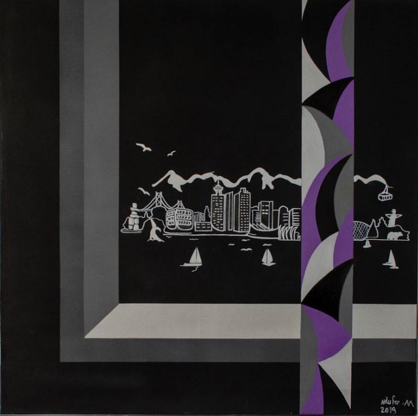 NILUFAR MOAYERI  Vancouver Original Oil 47 x 47