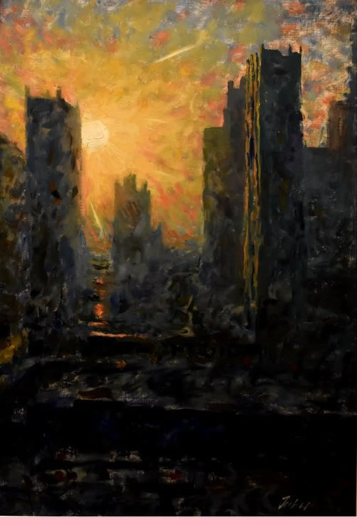 JACK HAER LEE  Sun City State - Morning Sunshine Original Oil 20.5 X 30