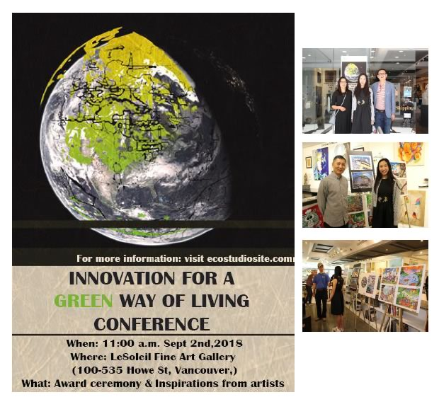 innovation for a Green Way of Living Conference poster. September 2nd, 2018