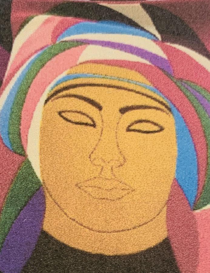 NILUFAR MOAYERI  Goddess Original Carpet 49 X 190
