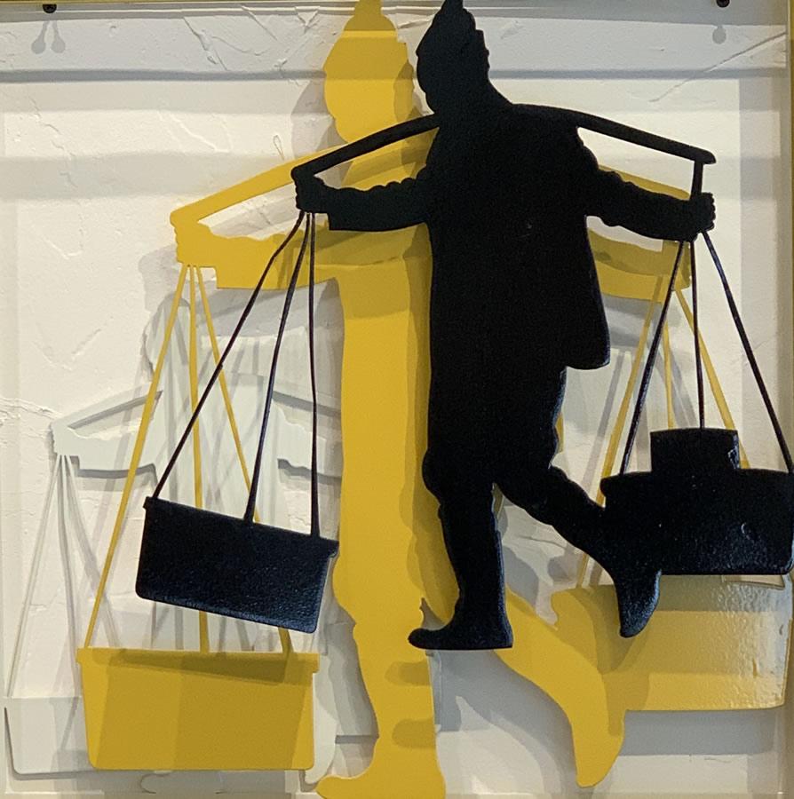 NILUFAR MOAYERI  The Merchant Original Metal Sculpture 20 x 20